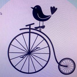 bird and bike logo